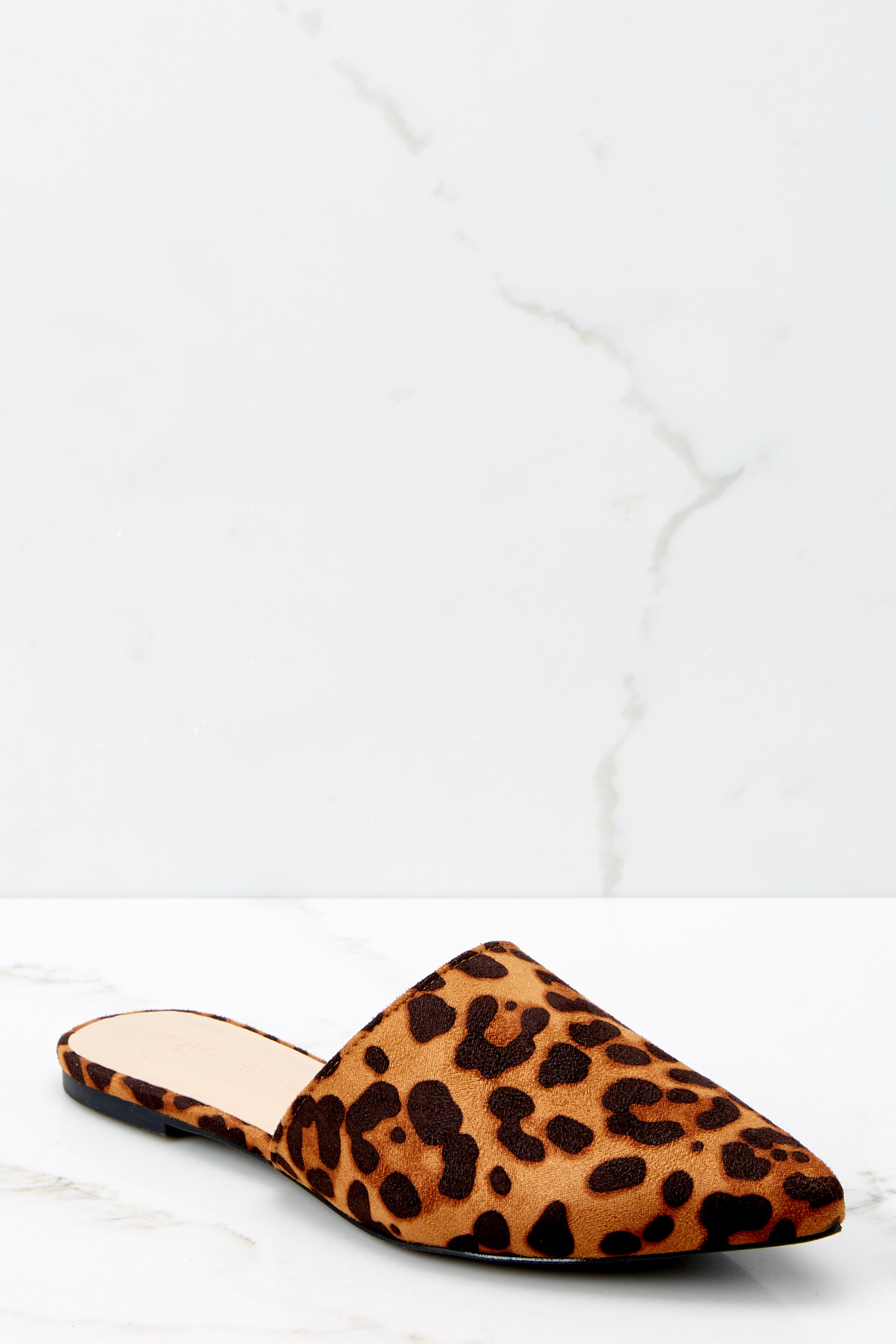 1 No More Back And Forth Leopard Print Mules at reddressboutique.com