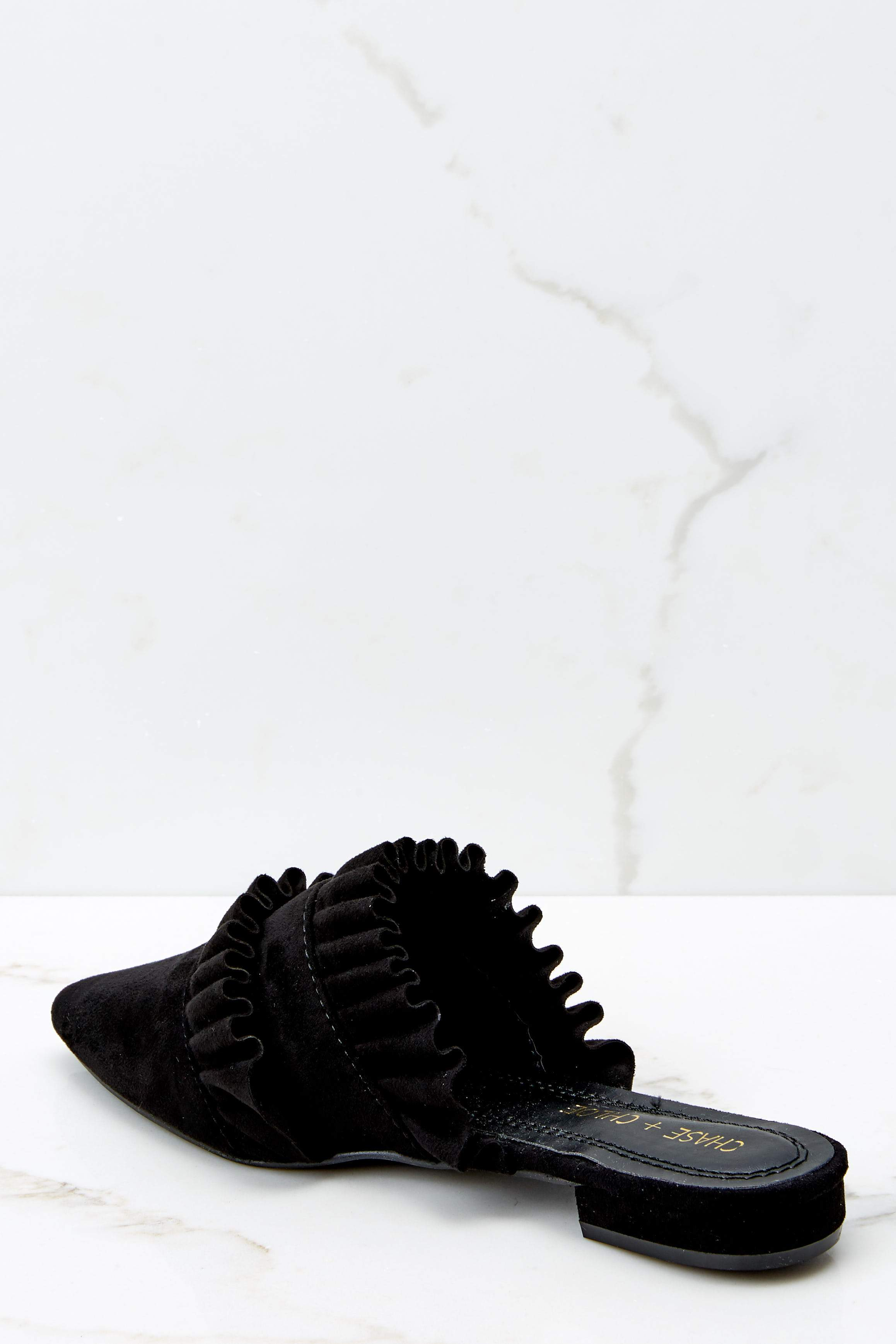 4 Make The Scene Black Mules at reddressboutique.com