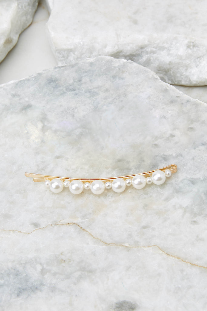 2 In Pearls Pearl Hair Clip at reddressboutique.com