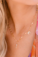 1 Hopeful Cross Gold Necklace at reddress.com