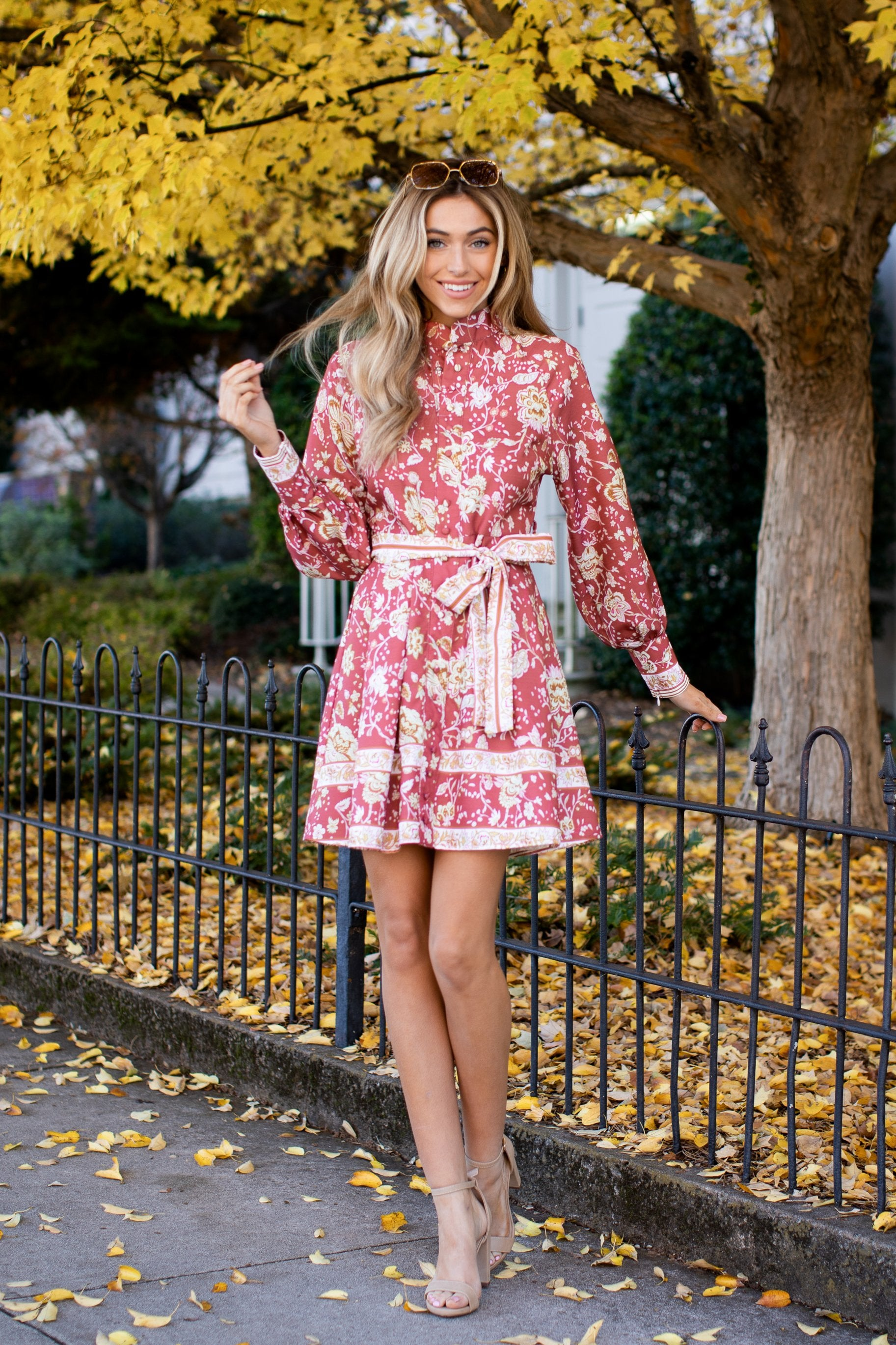 2 Certain Romance Rose Pink Floral Print Dress at reddressboutique.com