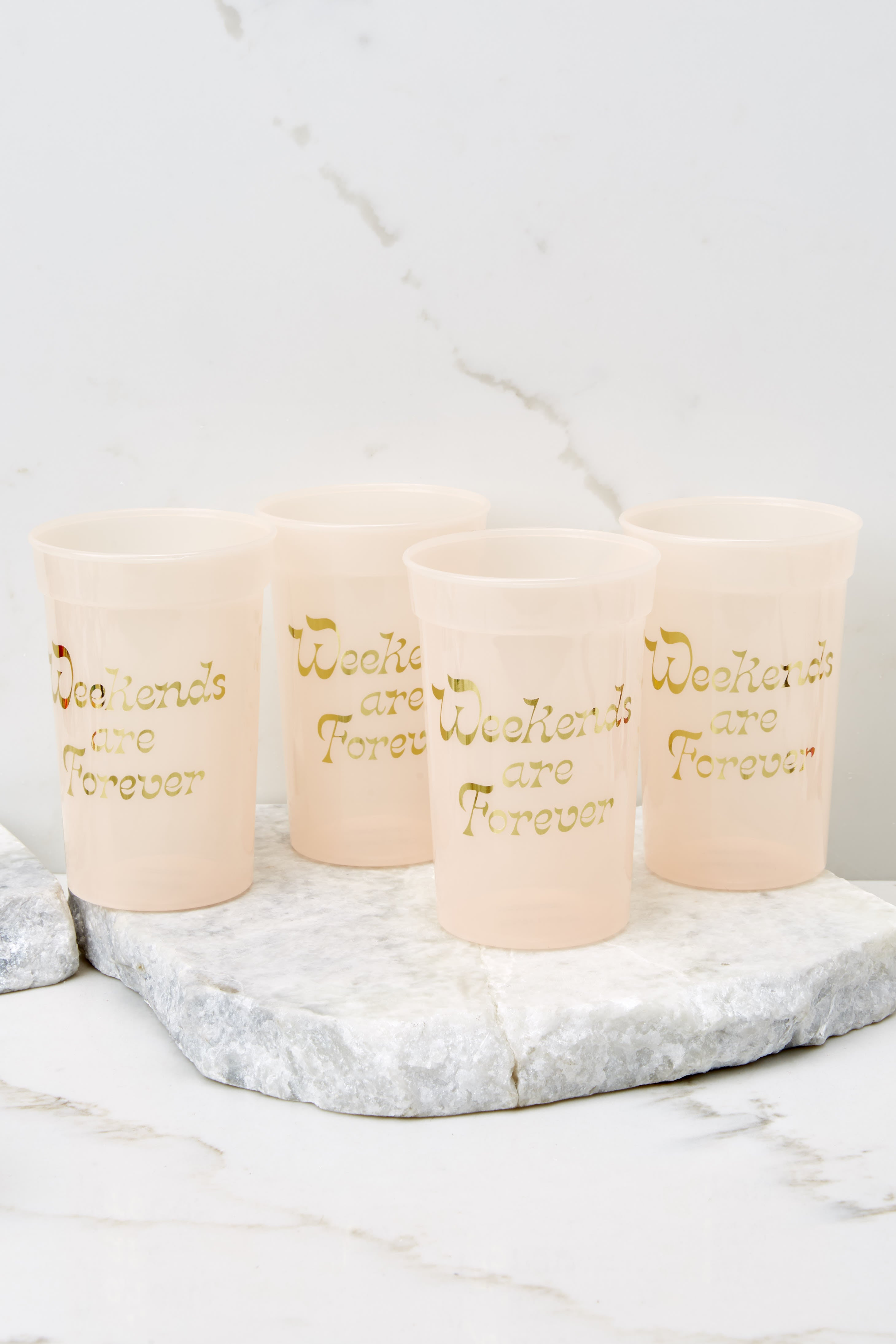 Weekends Are Forever Plastic Party Cup Set