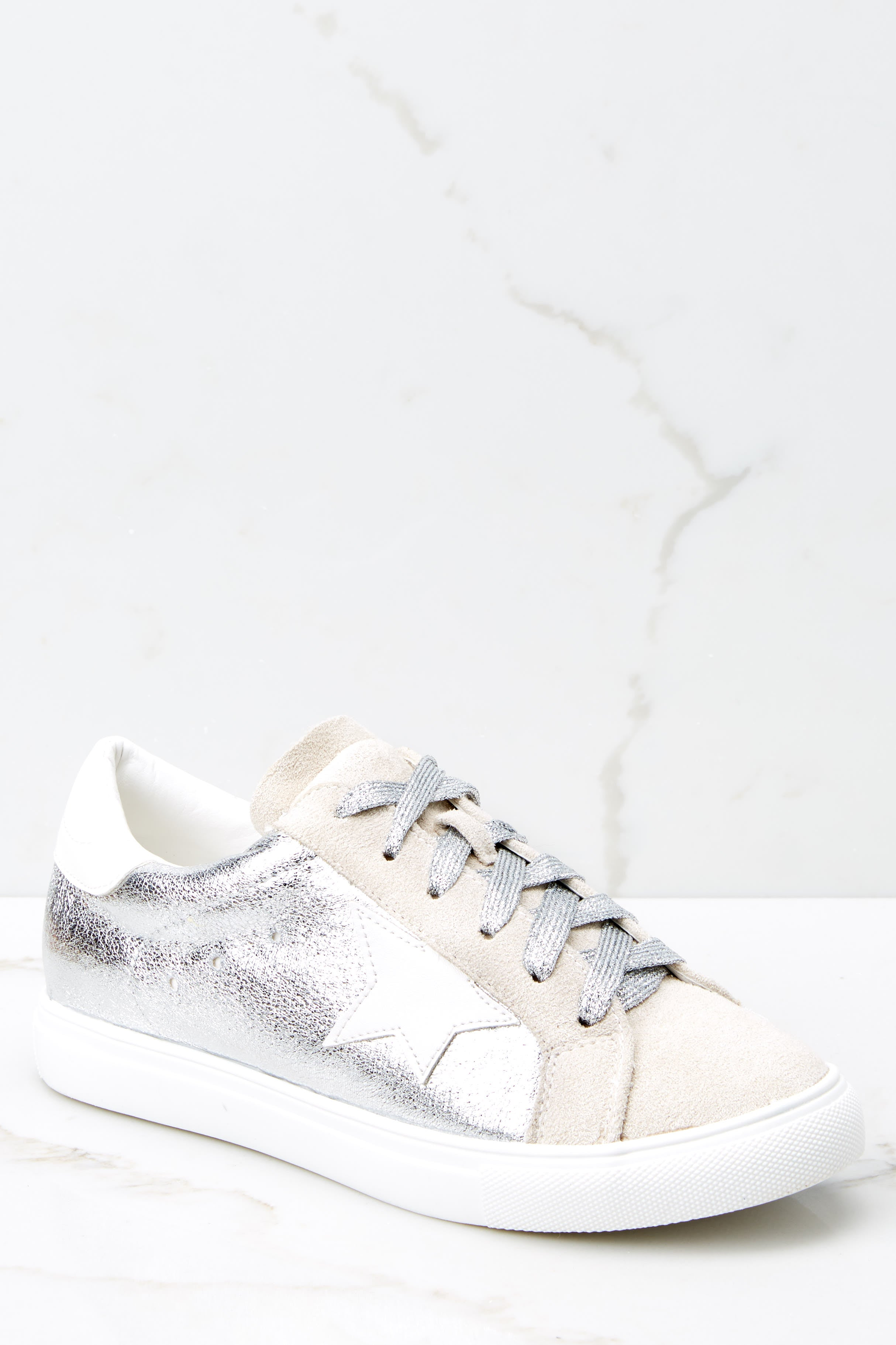 1 Getting Better Silver Sneakers at reddressboutique.com