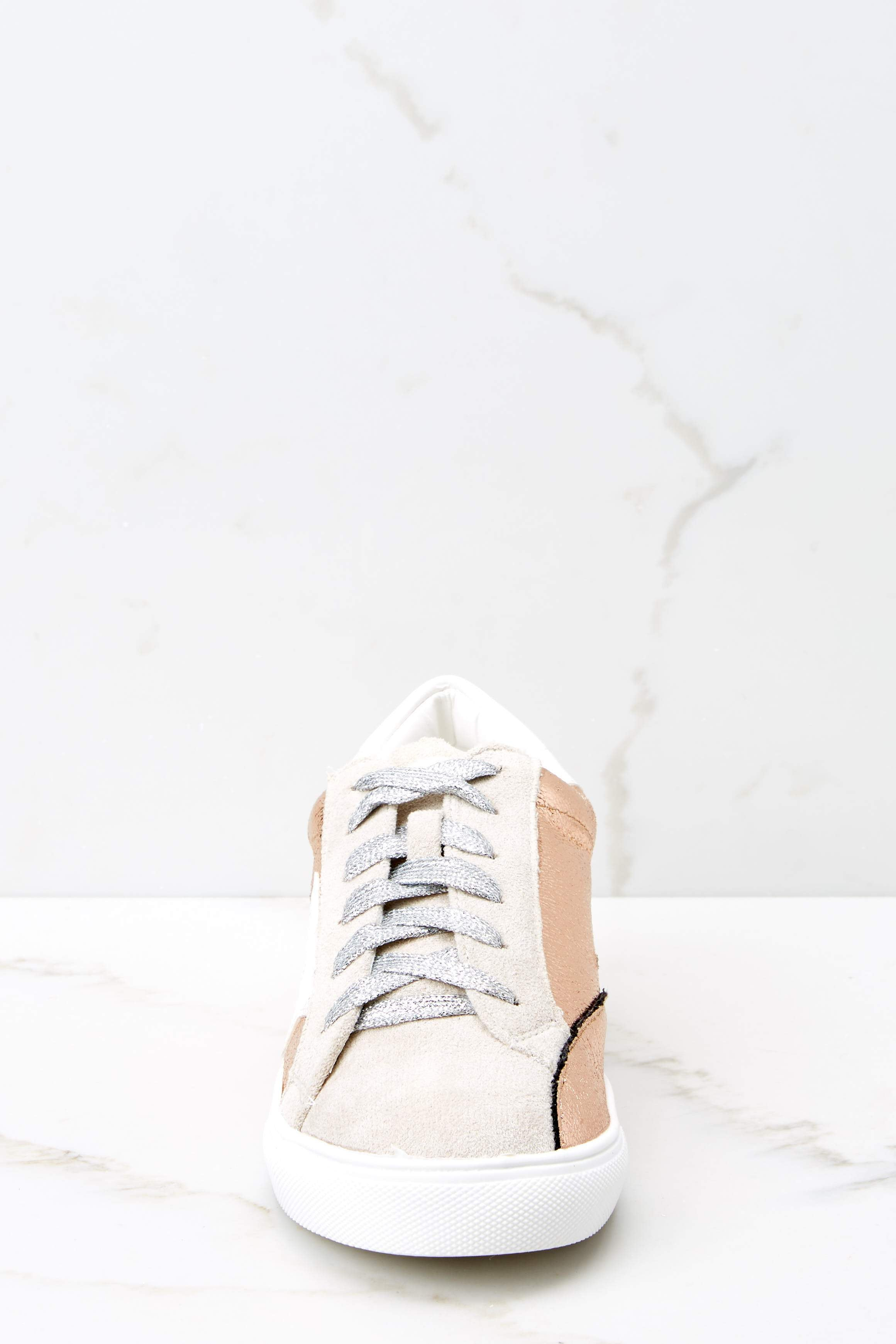 3 Getting Better Rose Gold Sneakers at reddress.com