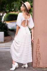 2 Long Way Around Ivory Maxi Dress at reddress.com