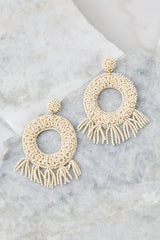 2 Never Enough Ivory Statement Earrings at reddressboutique.com