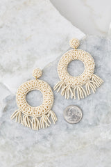 3 Never Enough Ivory Statement Earrings at reddressboutique.com