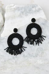 Never Enough Black Statement Earrings