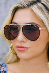 1 Dirty Habit Gold Brown Sunglasses at reddress.com