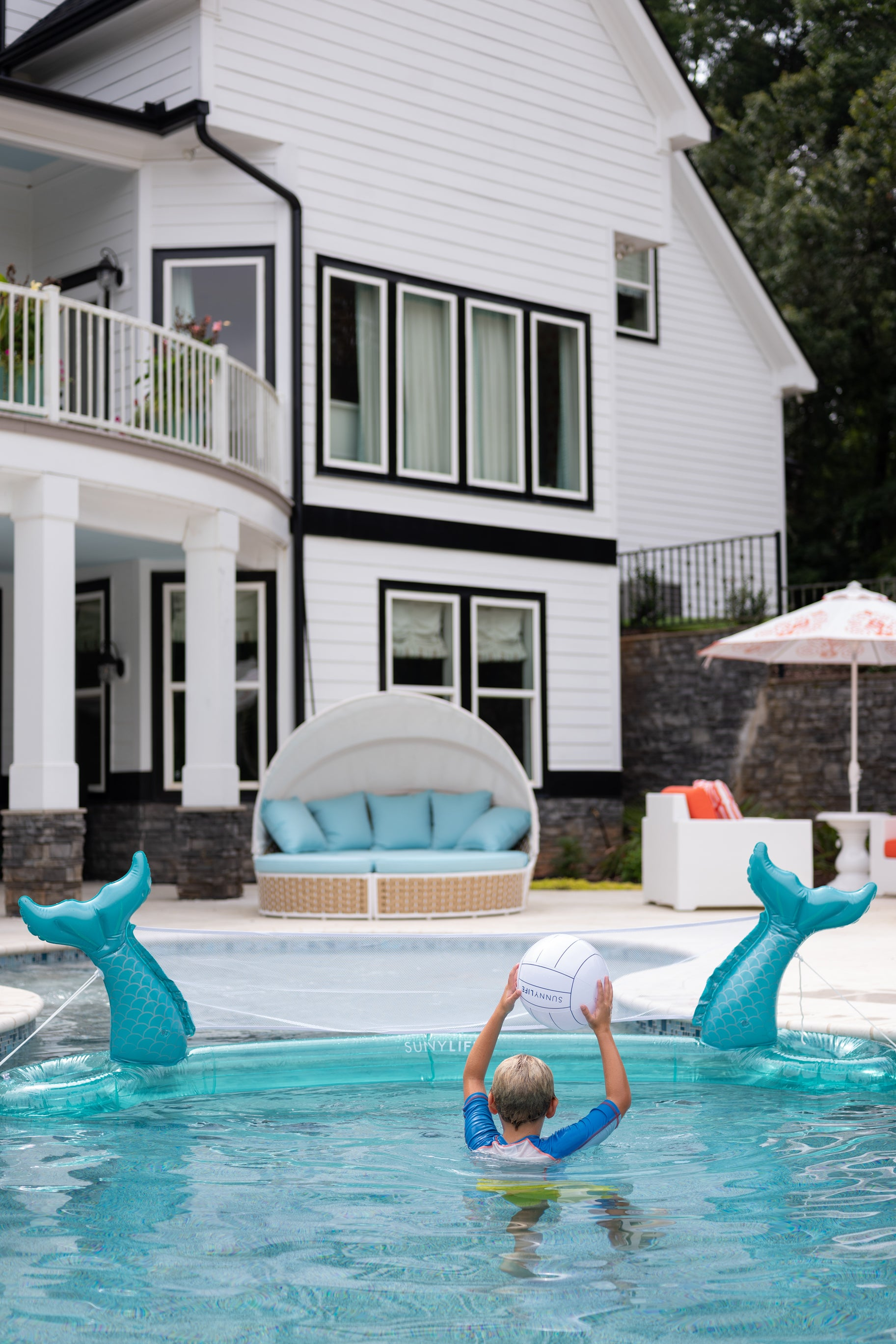 3 Mermaid Inflatable Volleyball Set at reddress.com