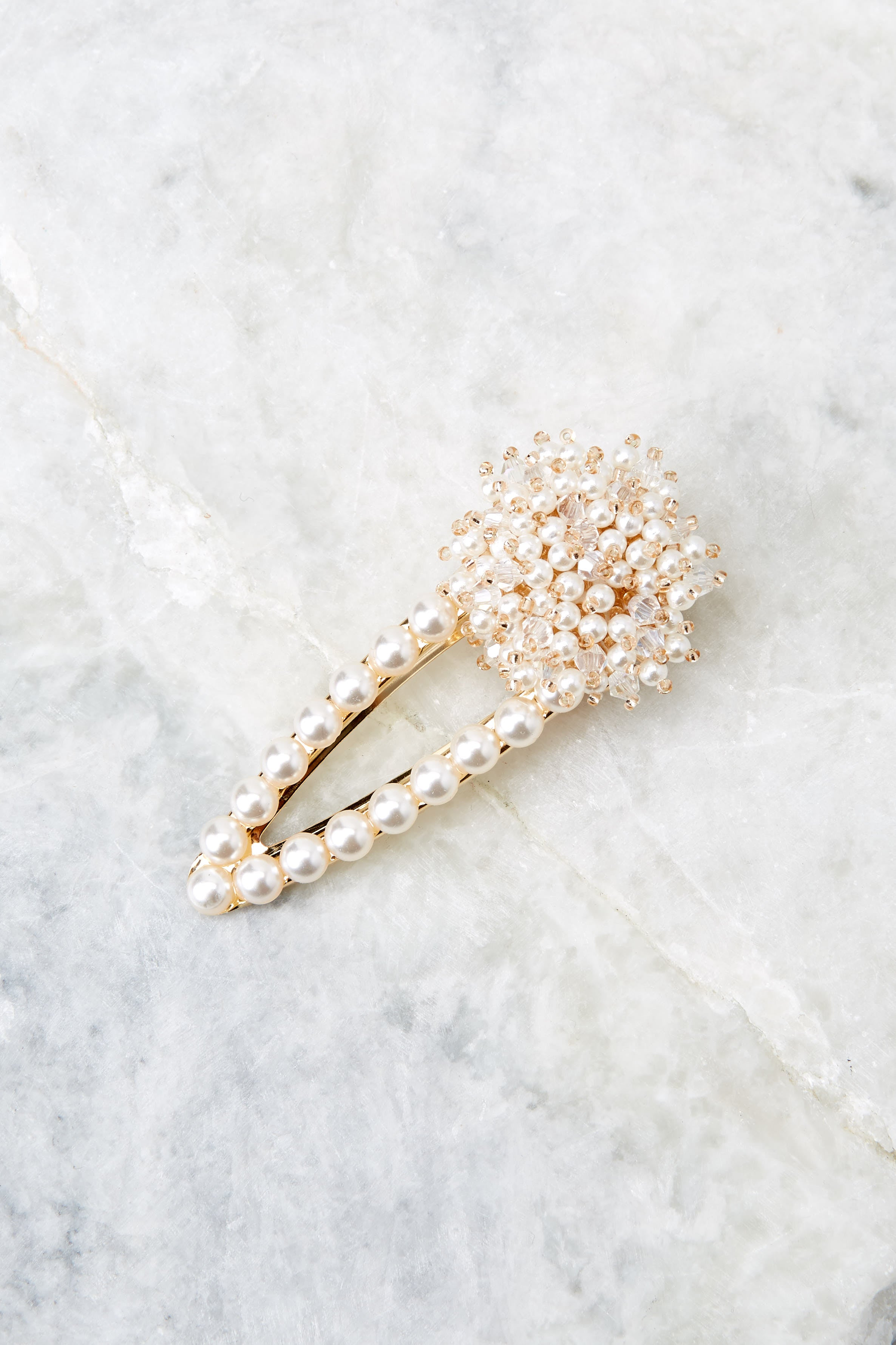 2 Accentuated Style Pearl Hair Clip at reddressboutique.com