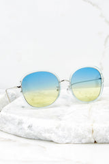 2 Mod Moments Blue To Yellow Clear Sunglasses at reddress.com