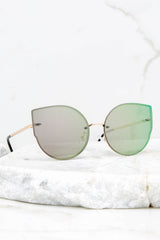 2 Paris Persuasion Green Sunglasses at reddressboutique.com