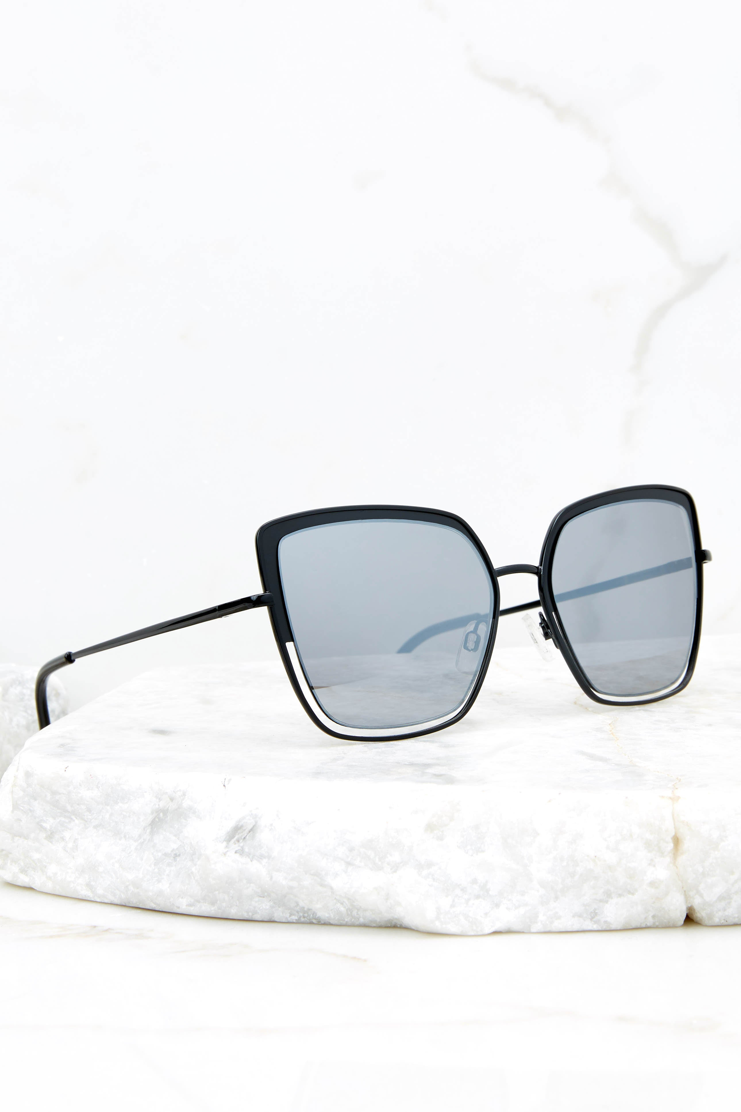 2 Way To Vacay Black Smoke Black Sunglasses at reddressboutique.com