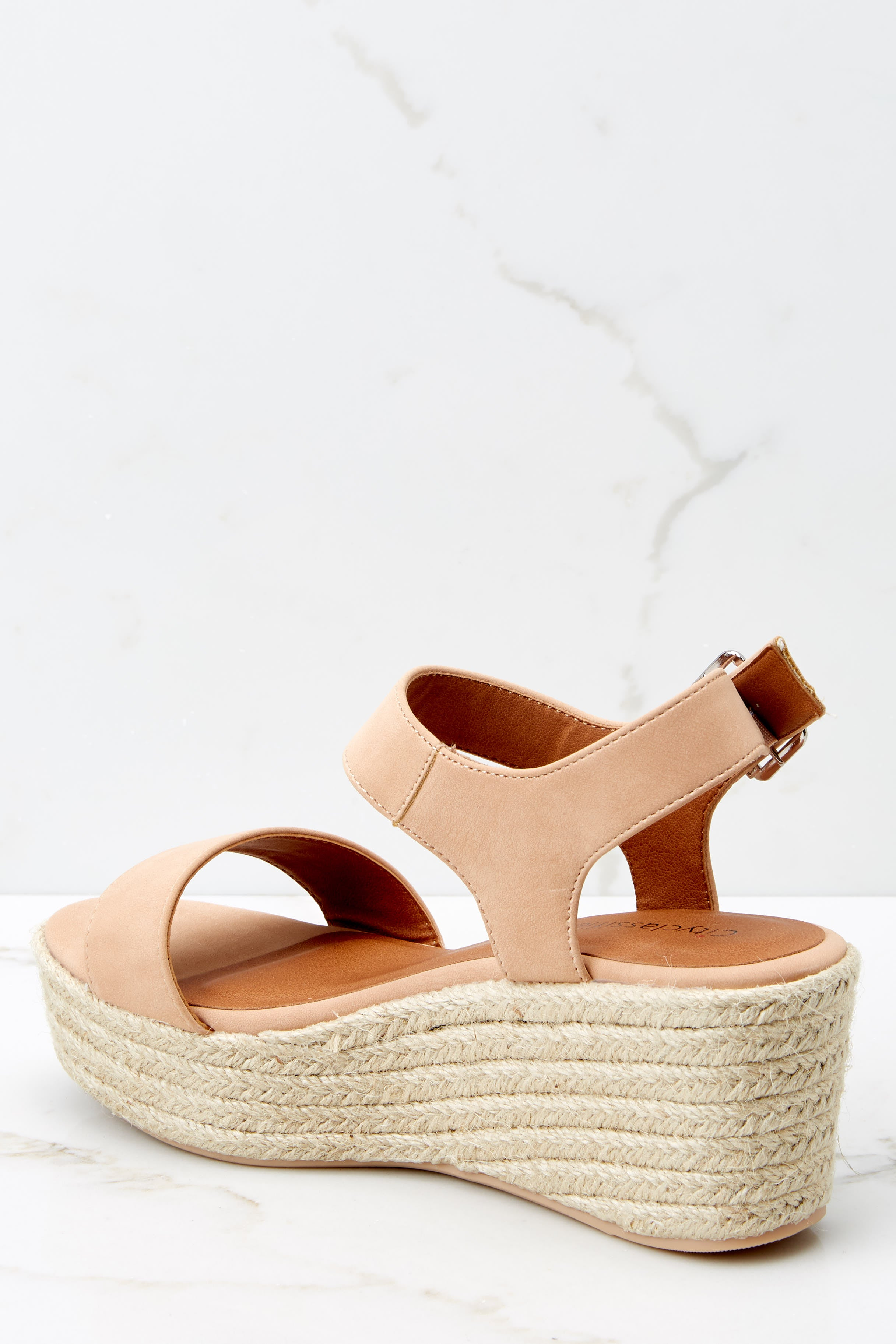 3 Need A Raise Nude Wedges at reddressboutique.com