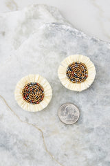 3 Take In This Moment Ivory Earrings at reddressboutique.com