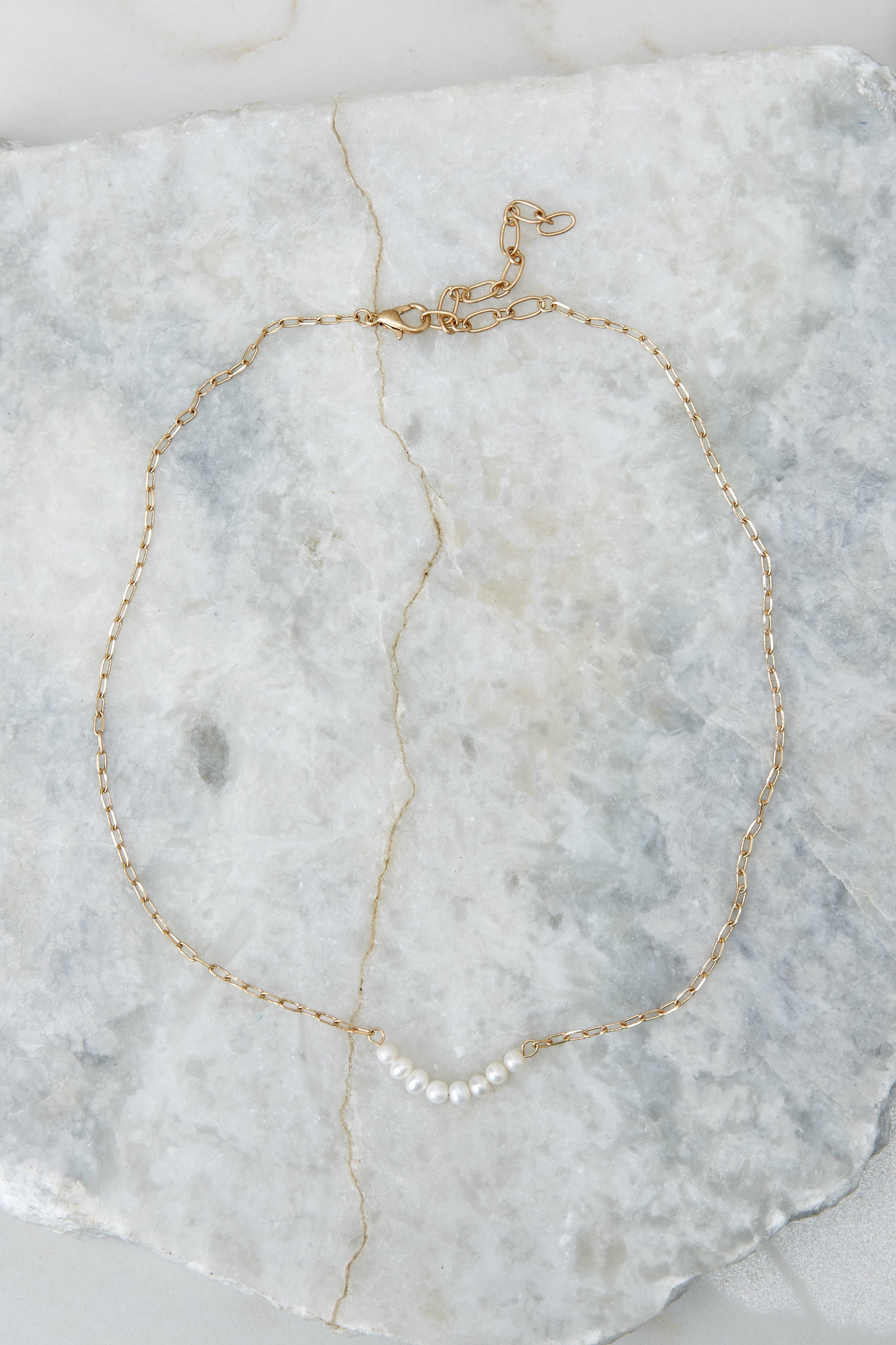 Pearls Best Friend Gold Necklace