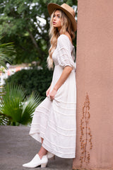 3 Long Way Around Ivory Maxi Dress at reddress.com