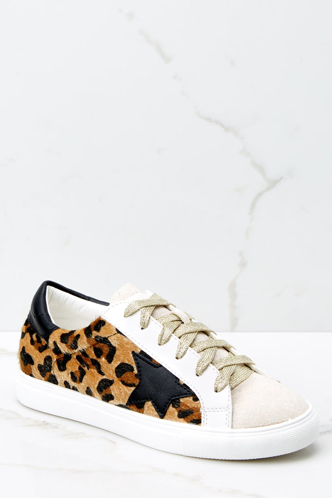 1 Make The Deal Leopard Print Sneakers at reddress.com