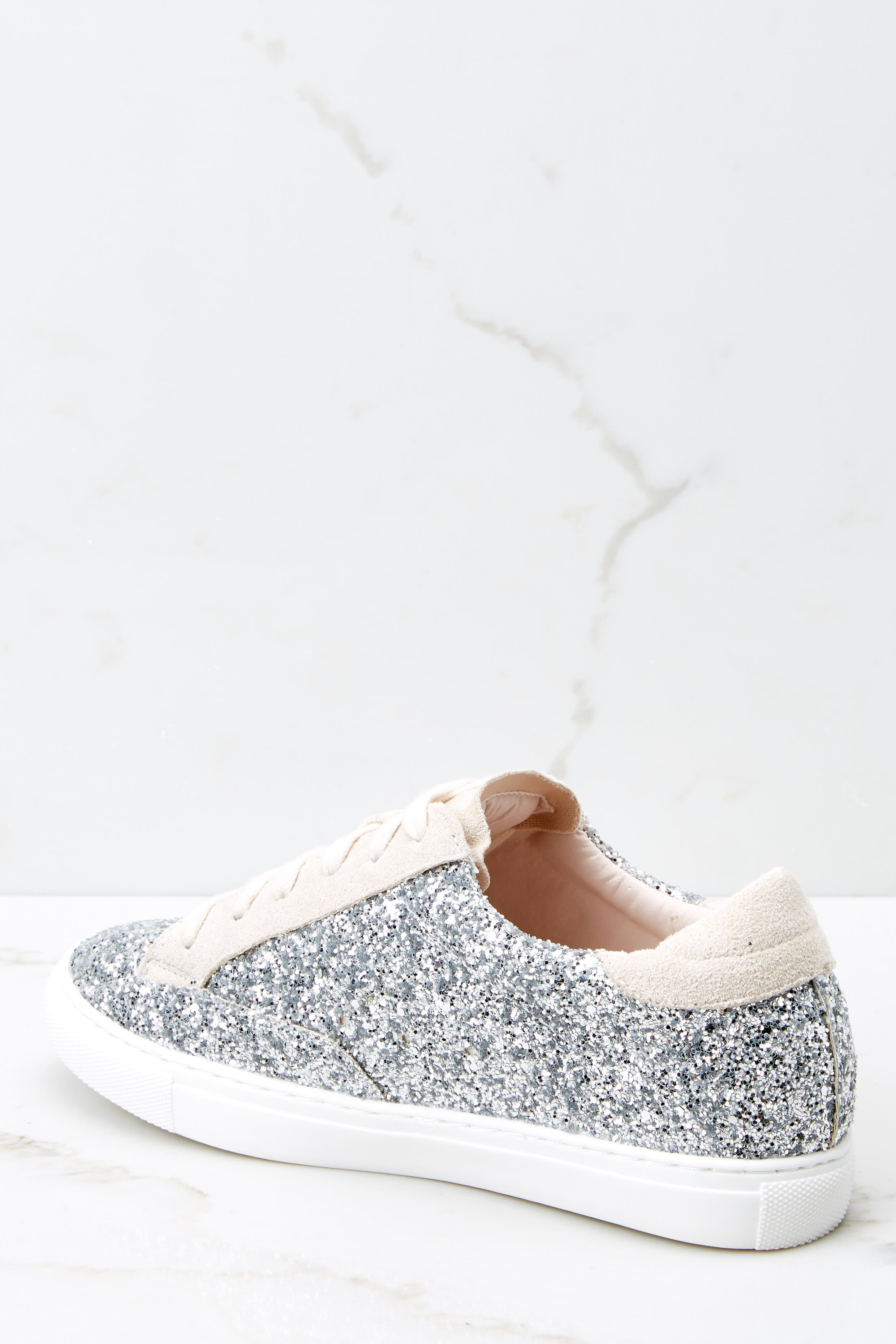 4 Getting Better Silver Glitter Sneakers at reddress.com
