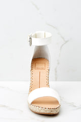 2 White Noor Wedges at reddressboutique.com