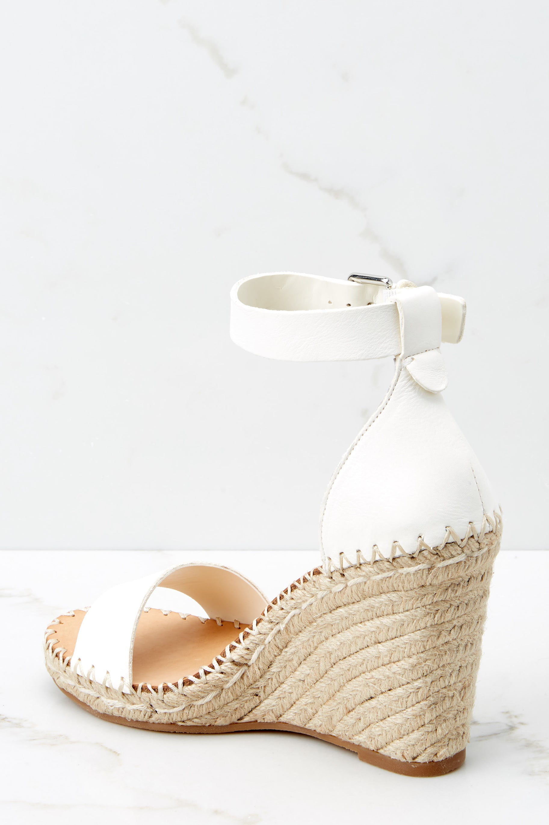 3 White Noor Wedges at reddressboutique.com