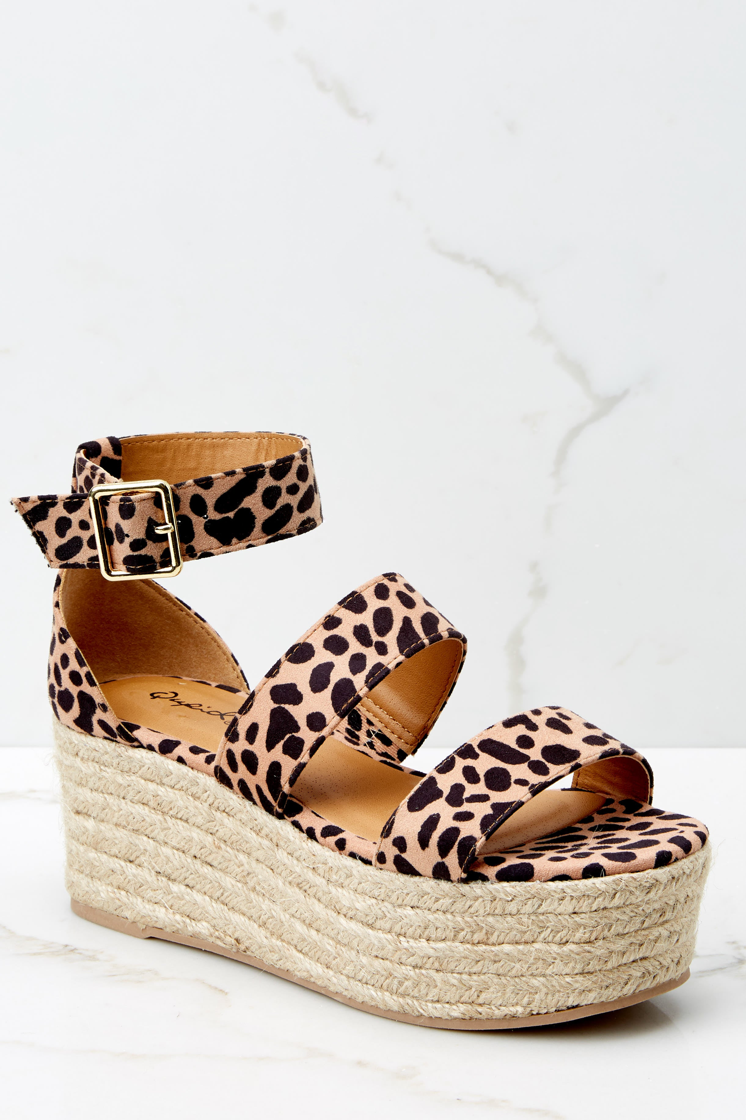 1 Fashionable Heights Cheetah Print Flatform Sandals at reddressboutique.com