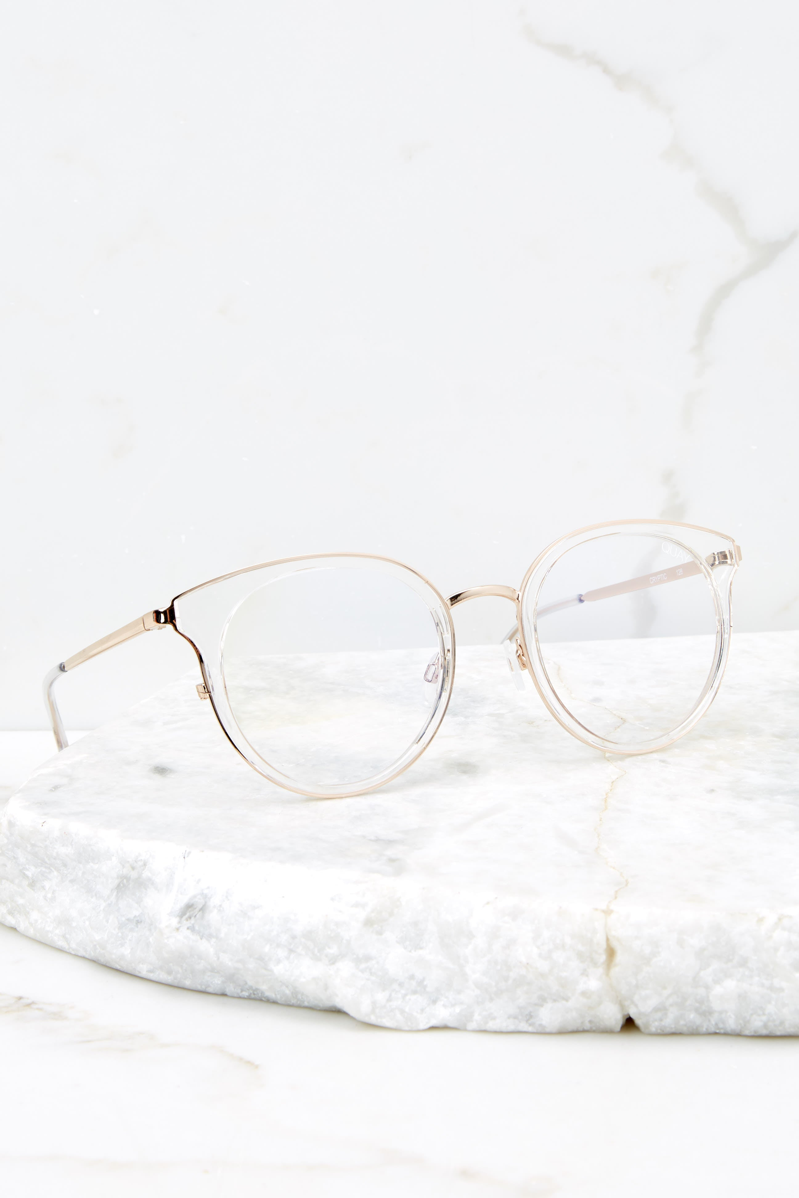 2 Cryptic Clear Blue Light Glasses at reddressboutique.com