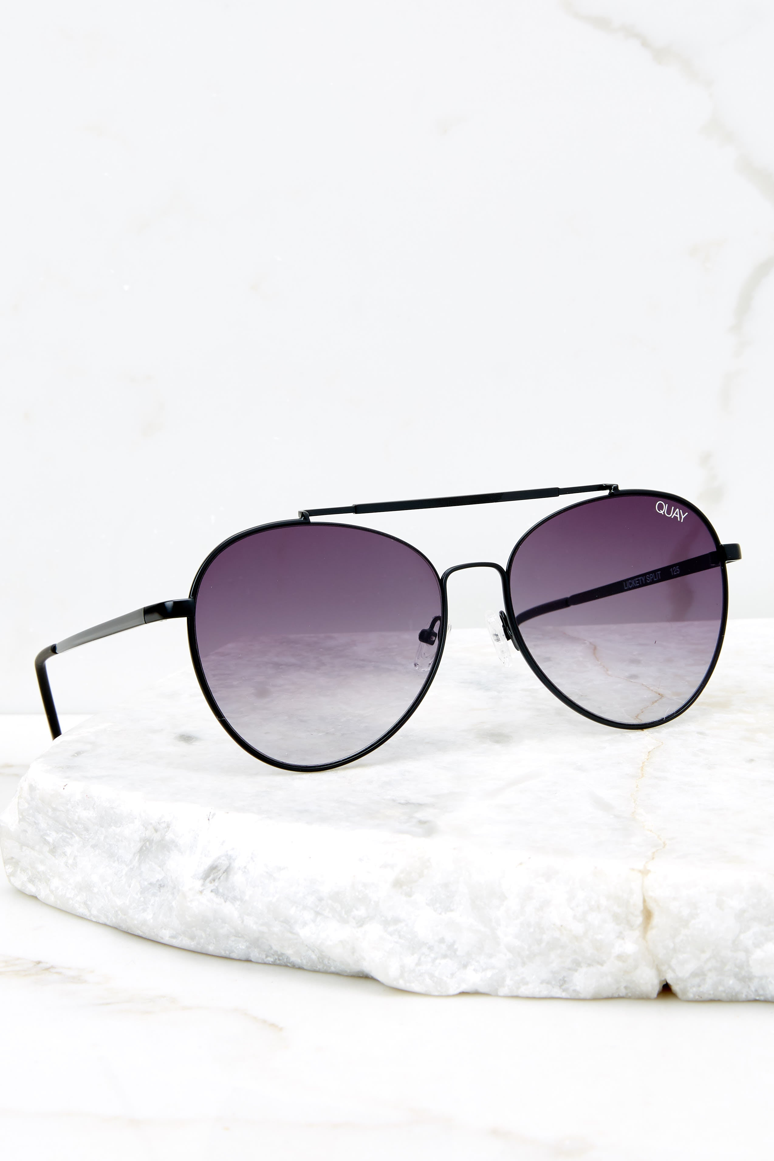 2 Lickety Split Black Smoke Fade Sunglasses at reddressboutique.com