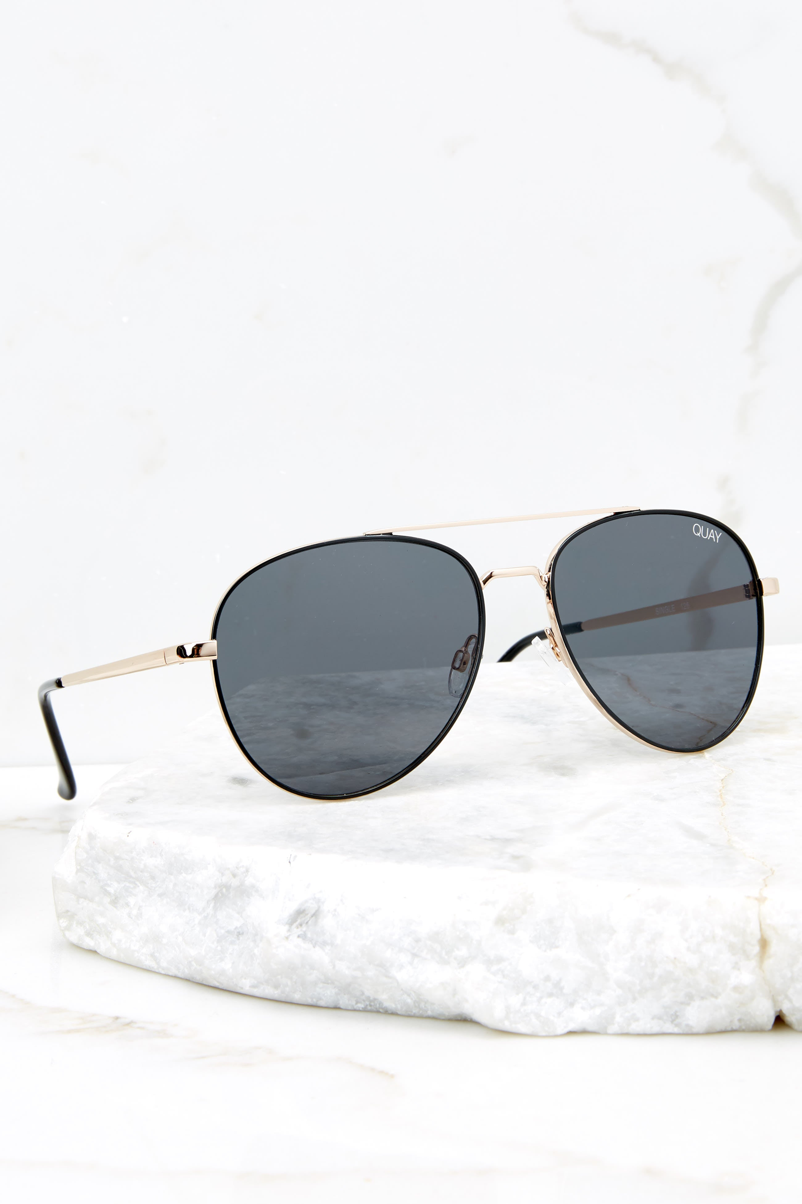 2 Single Black Smoke Sunglasses at reddressboutique.com