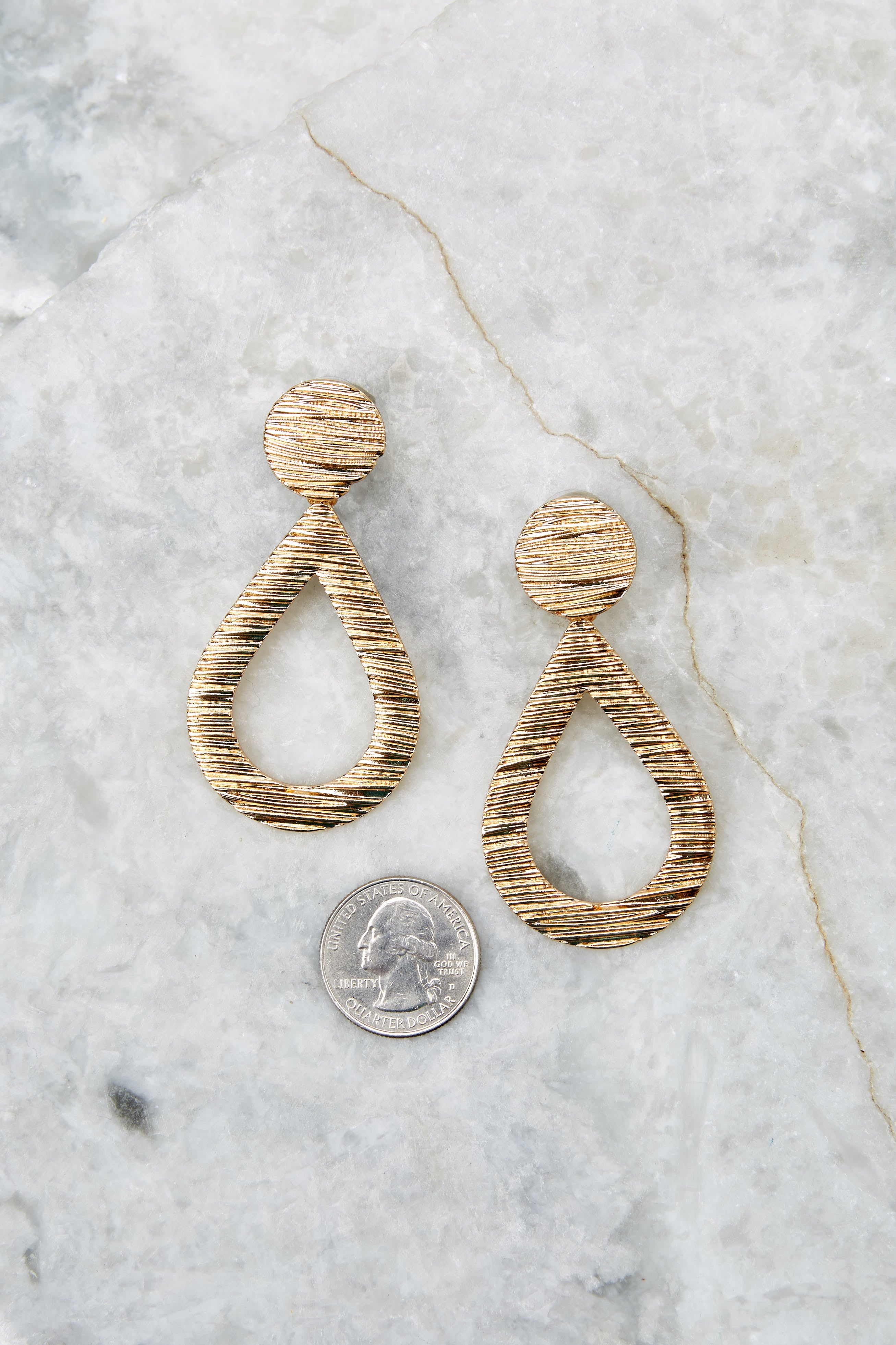 No Teardrops Gold Earrings
