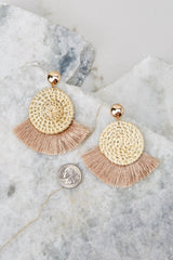 3 Ready Set Shine Natural Fringe Earrings at reddressboutique.com