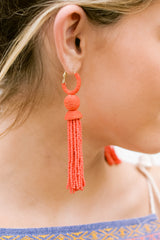 4 Impossible Imposter Fiesta Red Tassel Earrings at reddressboutique.com
