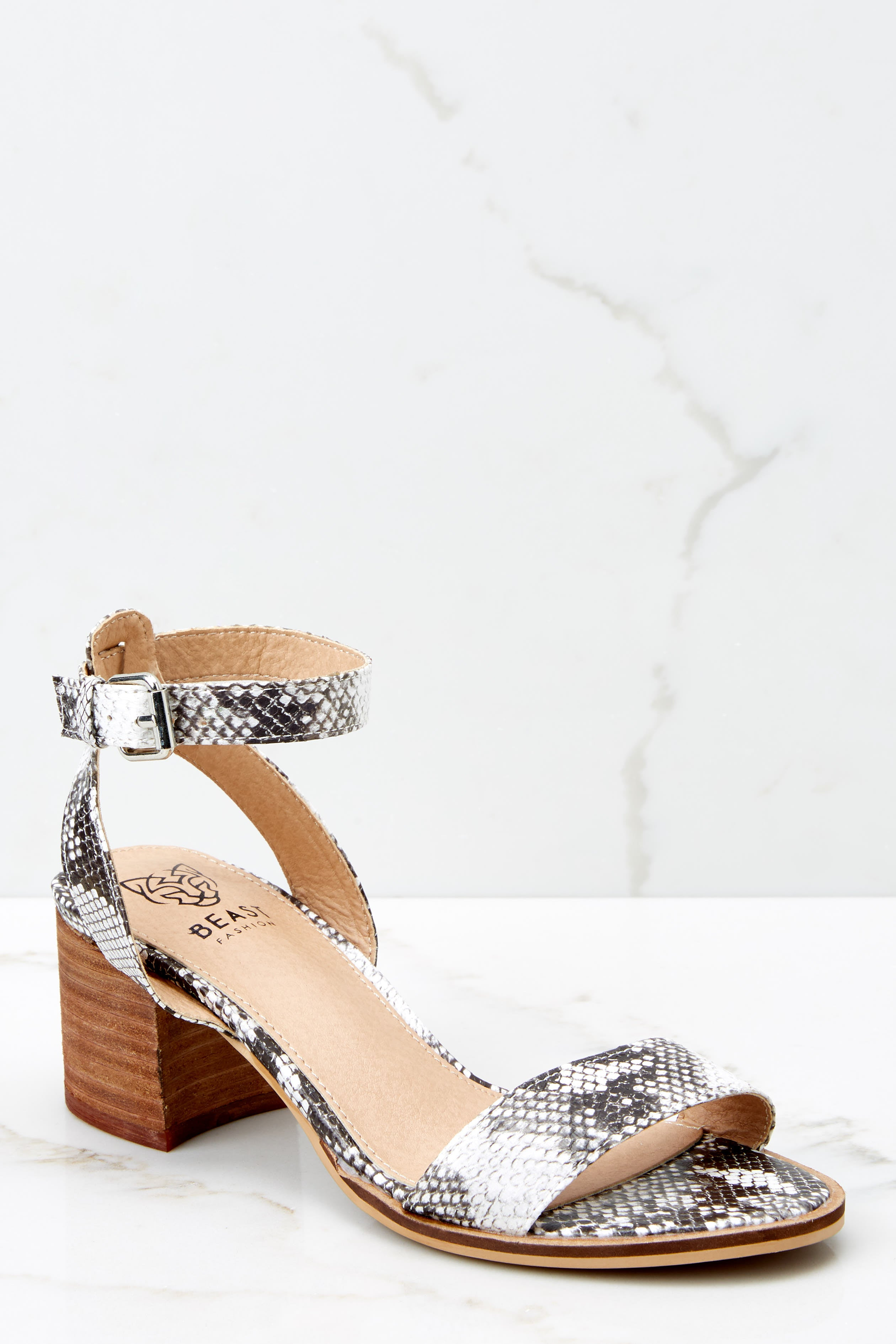 1 Going Up And Up Snakeskin Ankle Strap Heels at reddress.com