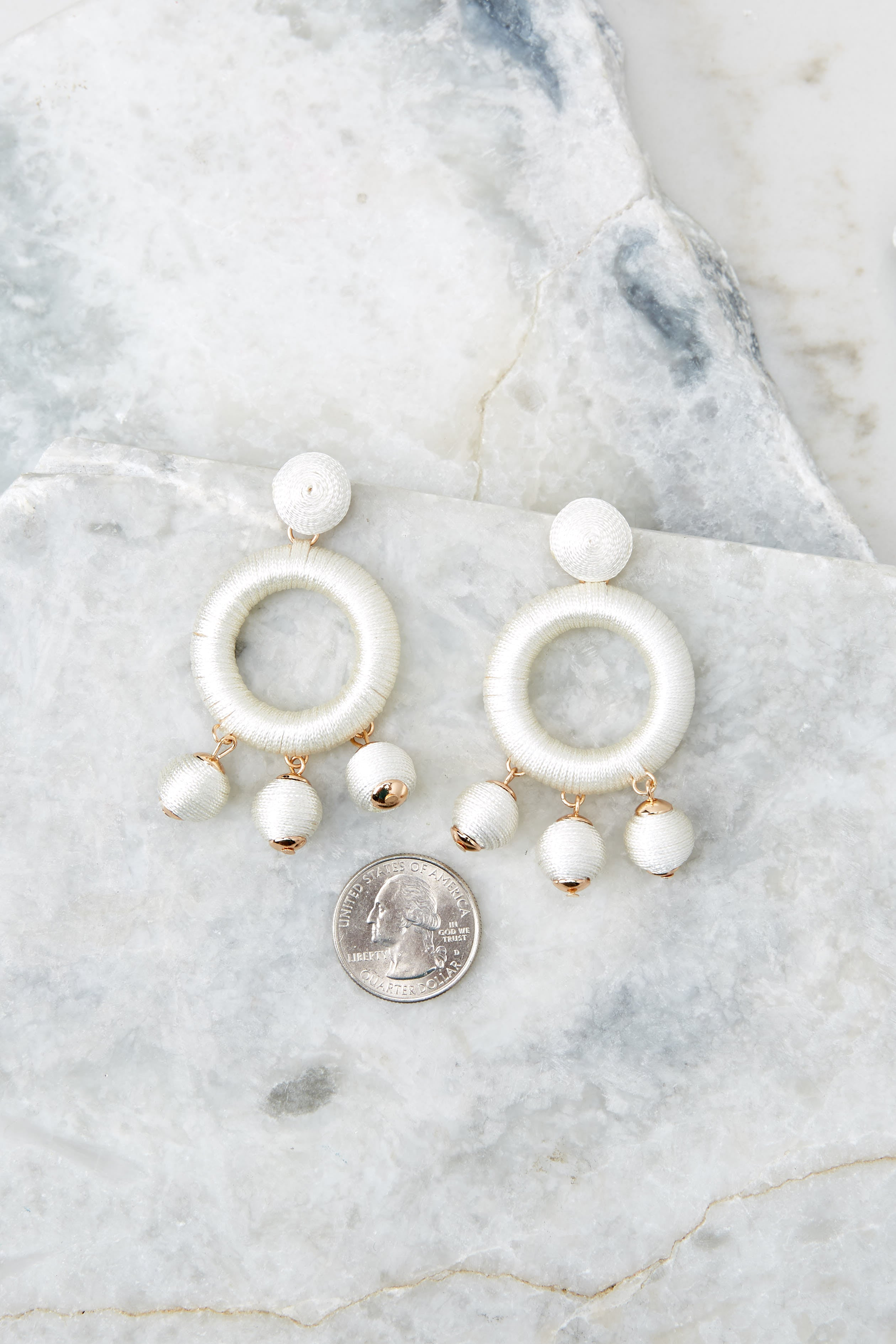 Around This Time White Earrings
