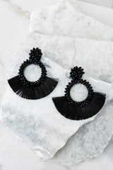 2 Buzzworthy Style Black Statement Earrings at reddress.com