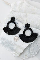 3 Buzzworthy Style Black Statement Earrings at reddressboutique.com