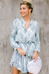 Let This Be Light Blue Snake Print Dress