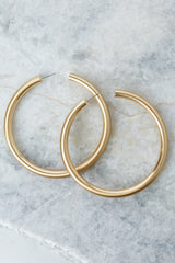 2 Nineties Babe Gold Hoop Earrings at reddress.com