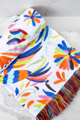 3 Shoreline Perch Pink Multi Bird Print Towel at reddress.com