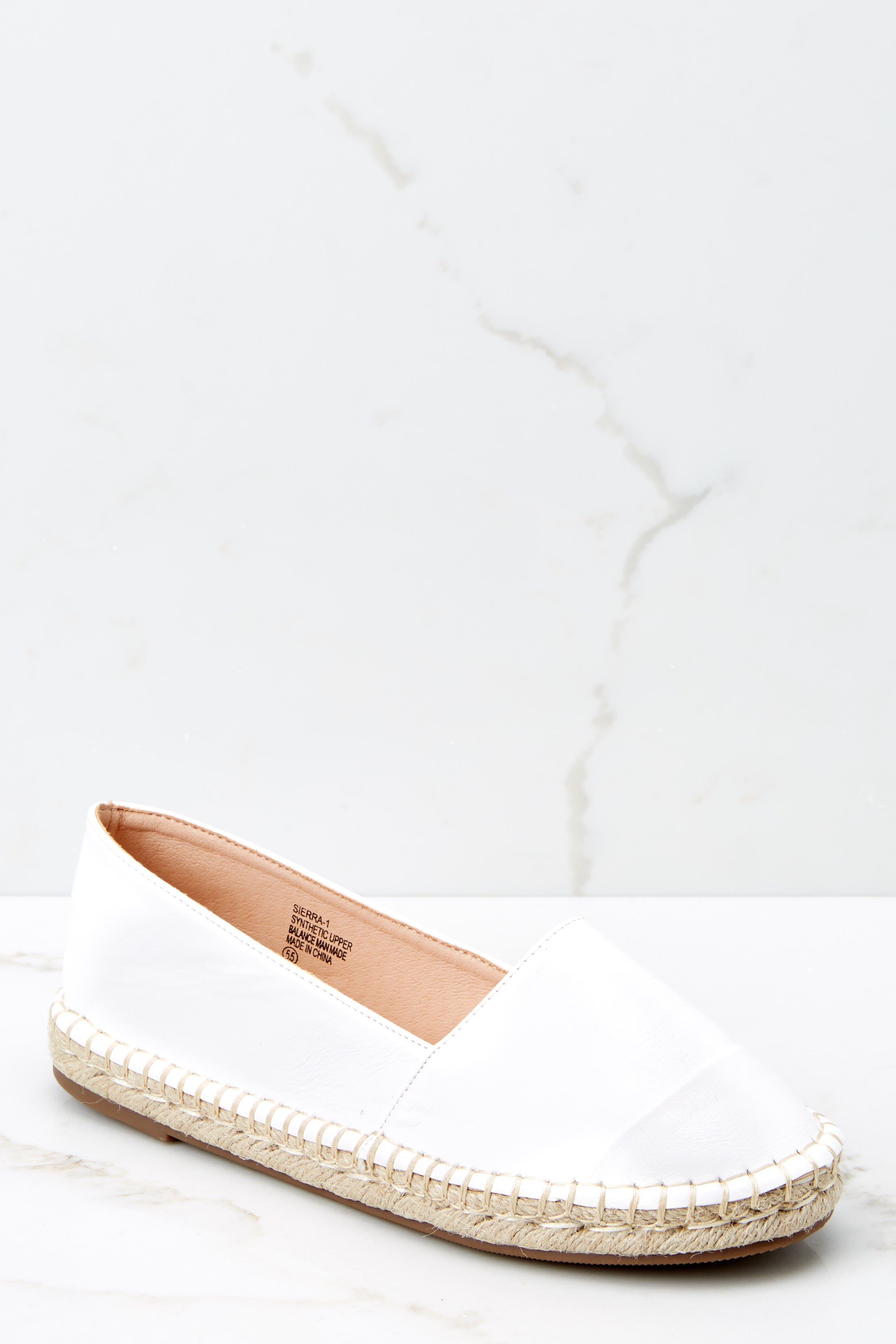 2 Following Fun White Slip On Espadrille Flats at reddressboutique.com
