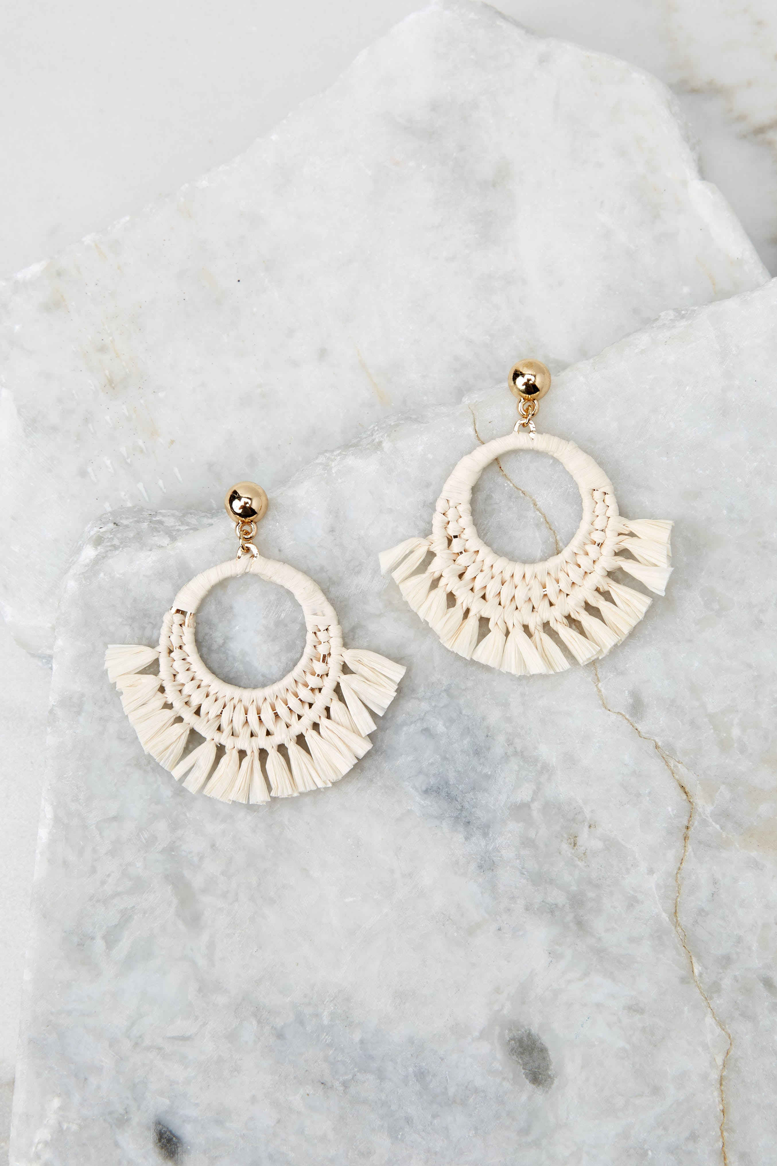 2 Brush With Fate Ivory Earrings at reddress.com