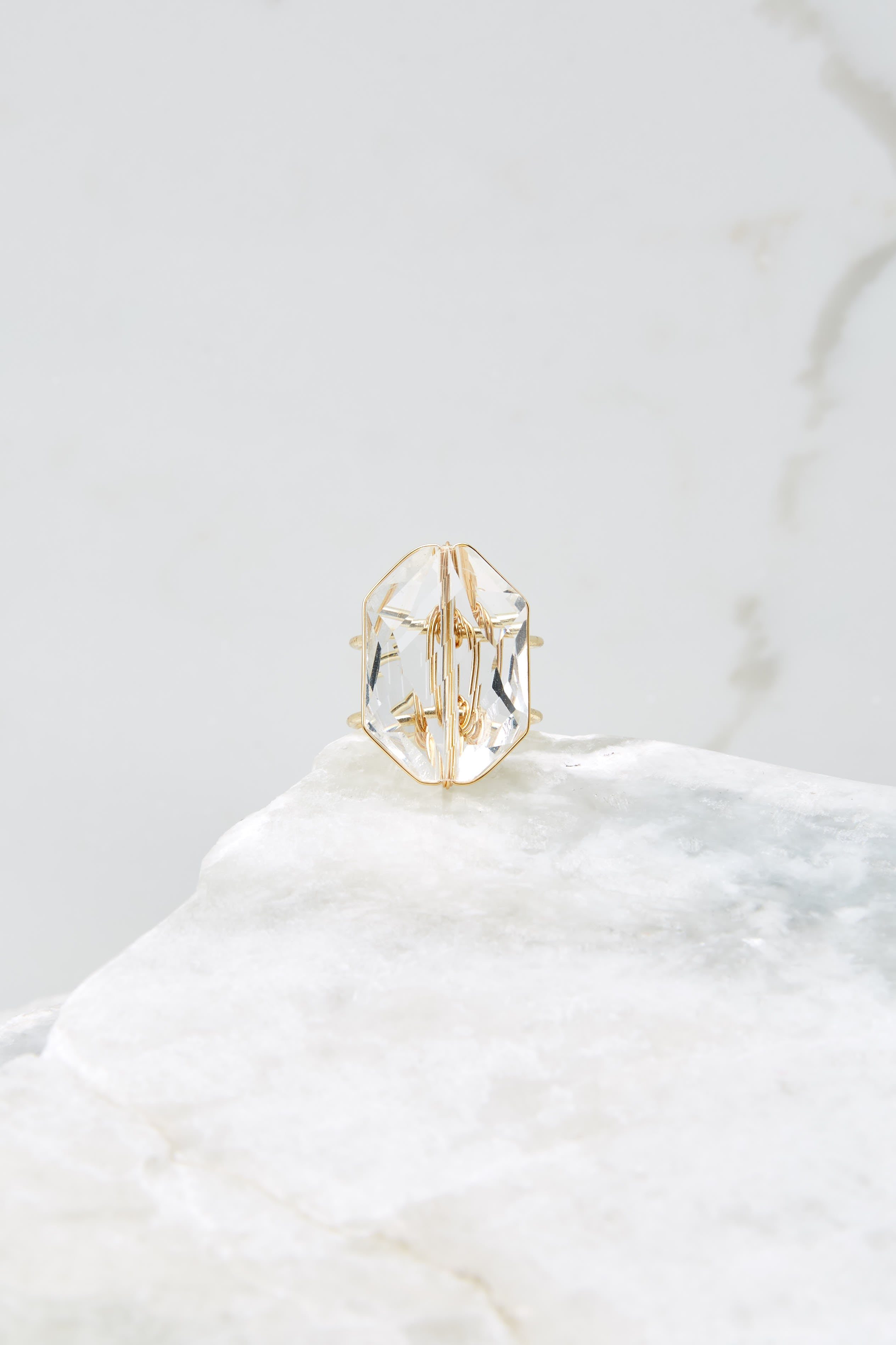 4 Flawless Victory Clear Crystal Ring at reddressboutique.com