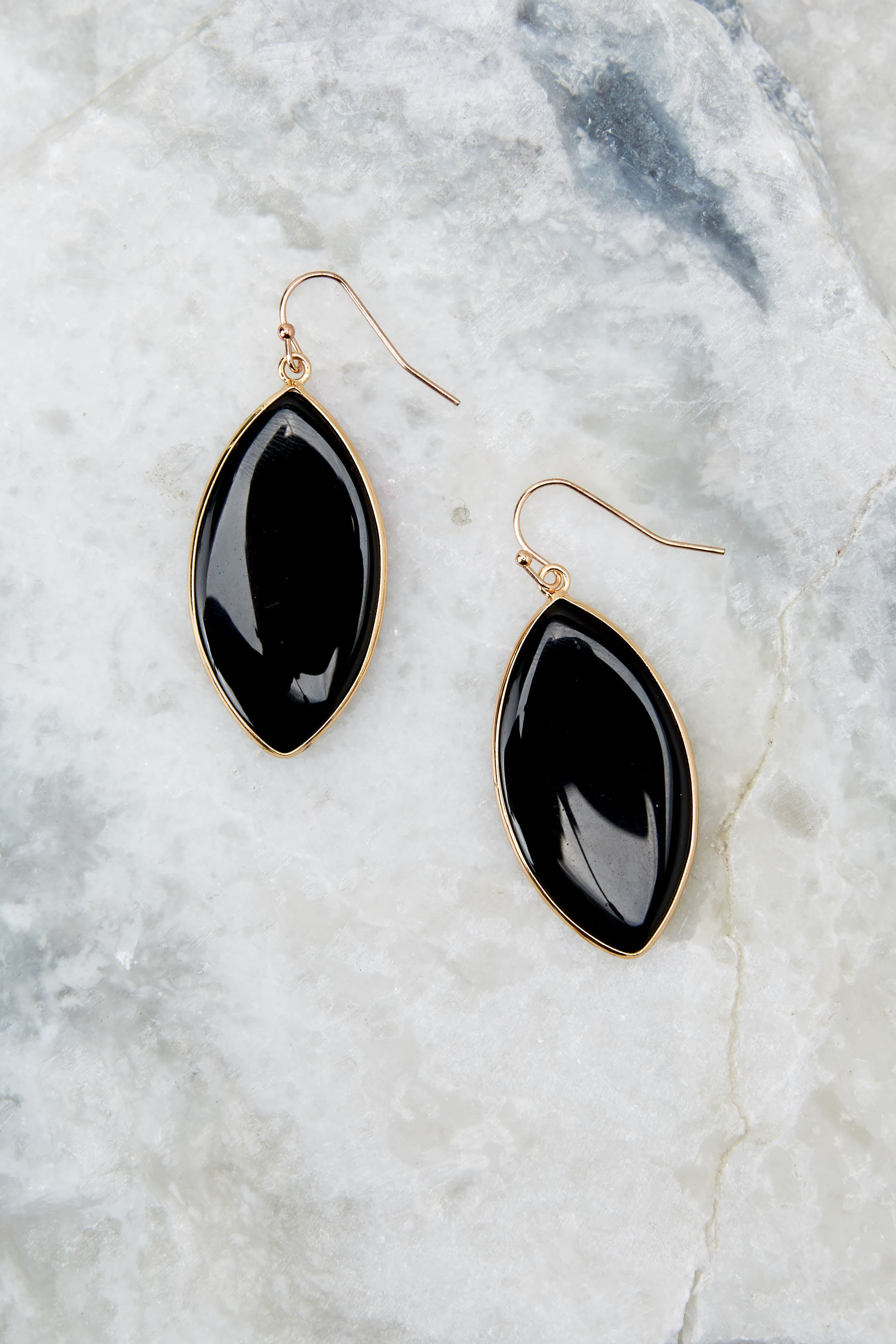 2 Even If Black Earrings at reddressboutique.com