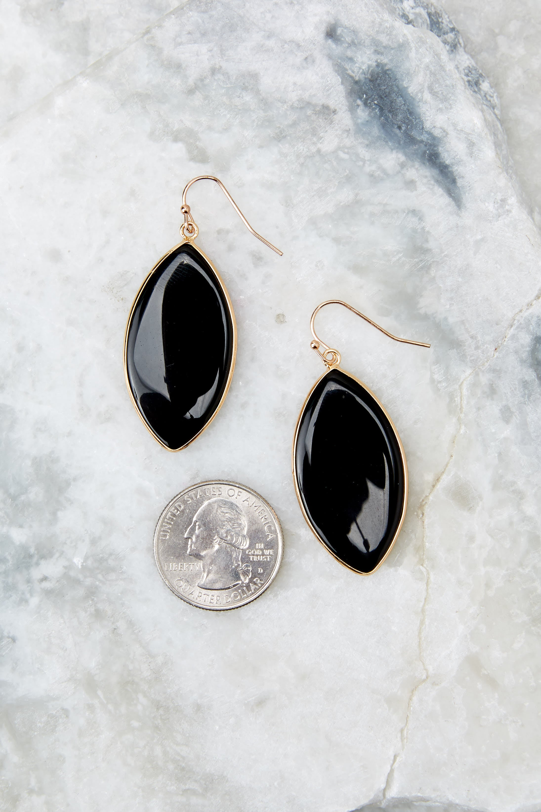 3 Even If Black Earrings at reddressboutique.com