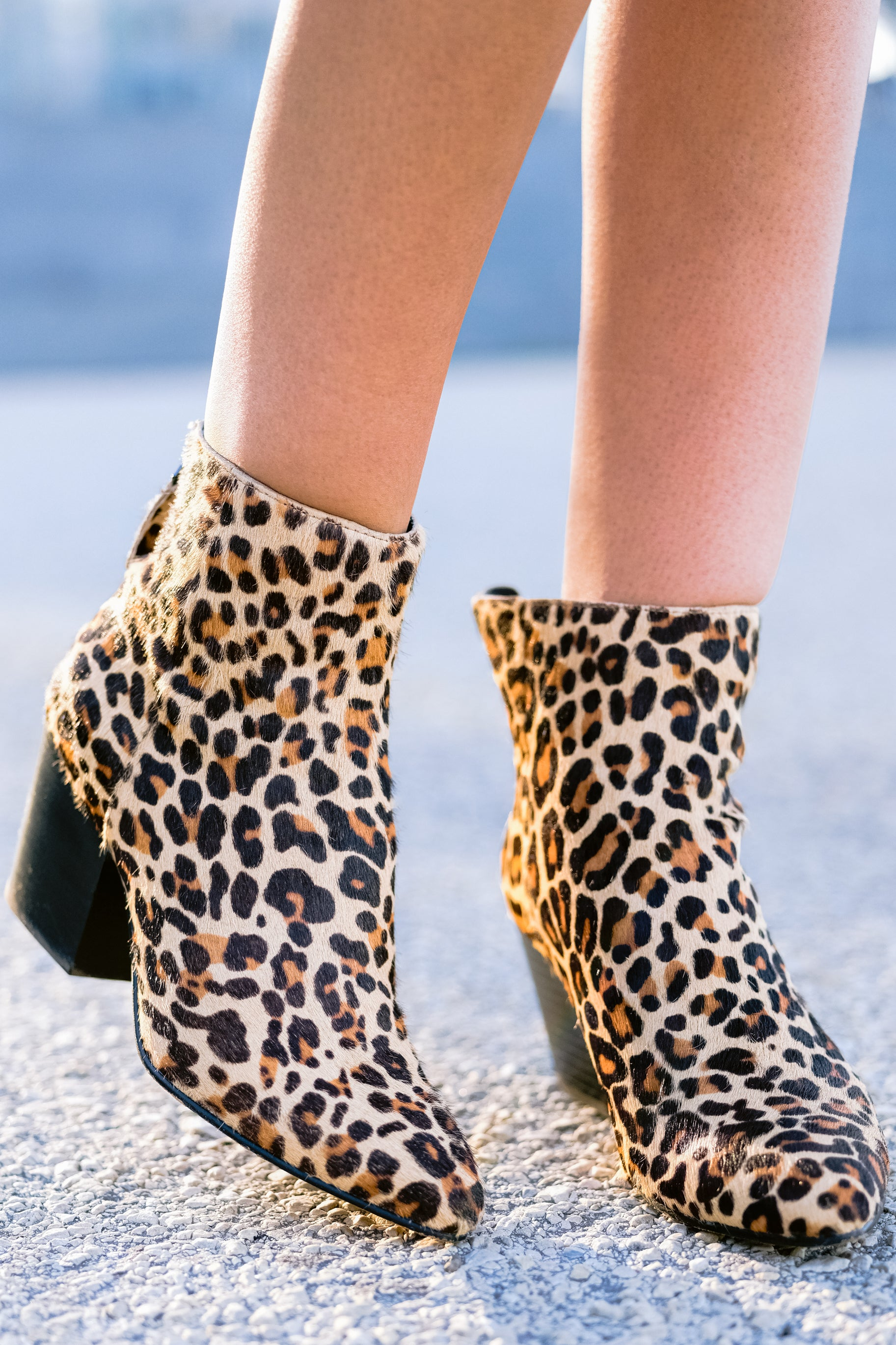 Coltyn Leopard Booties