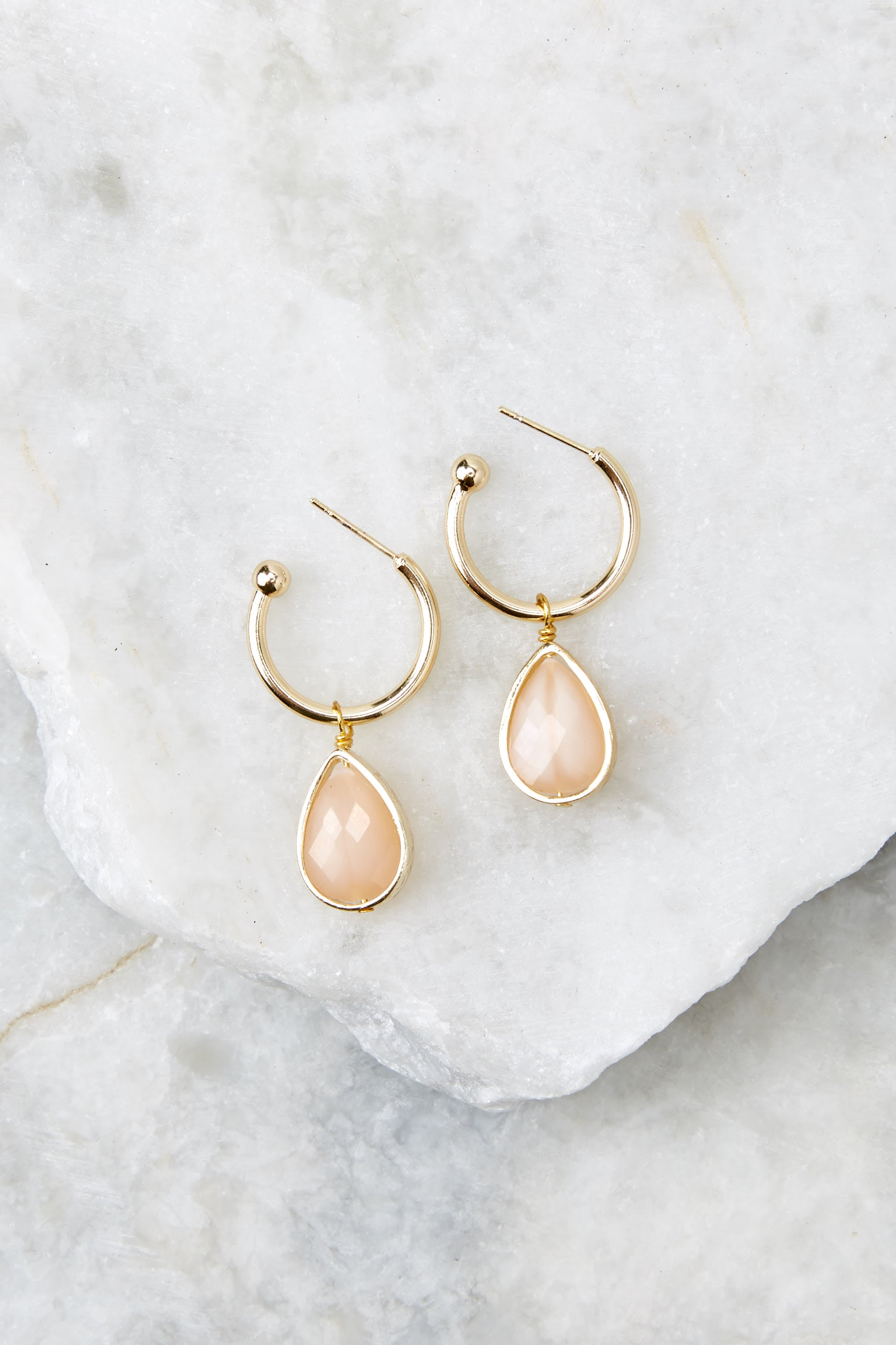Drop Of Truth Pale Pink Earrings