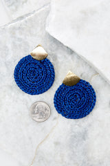 3 Another Kind Of Love Dark Blue Earrings at reddressboutique.com