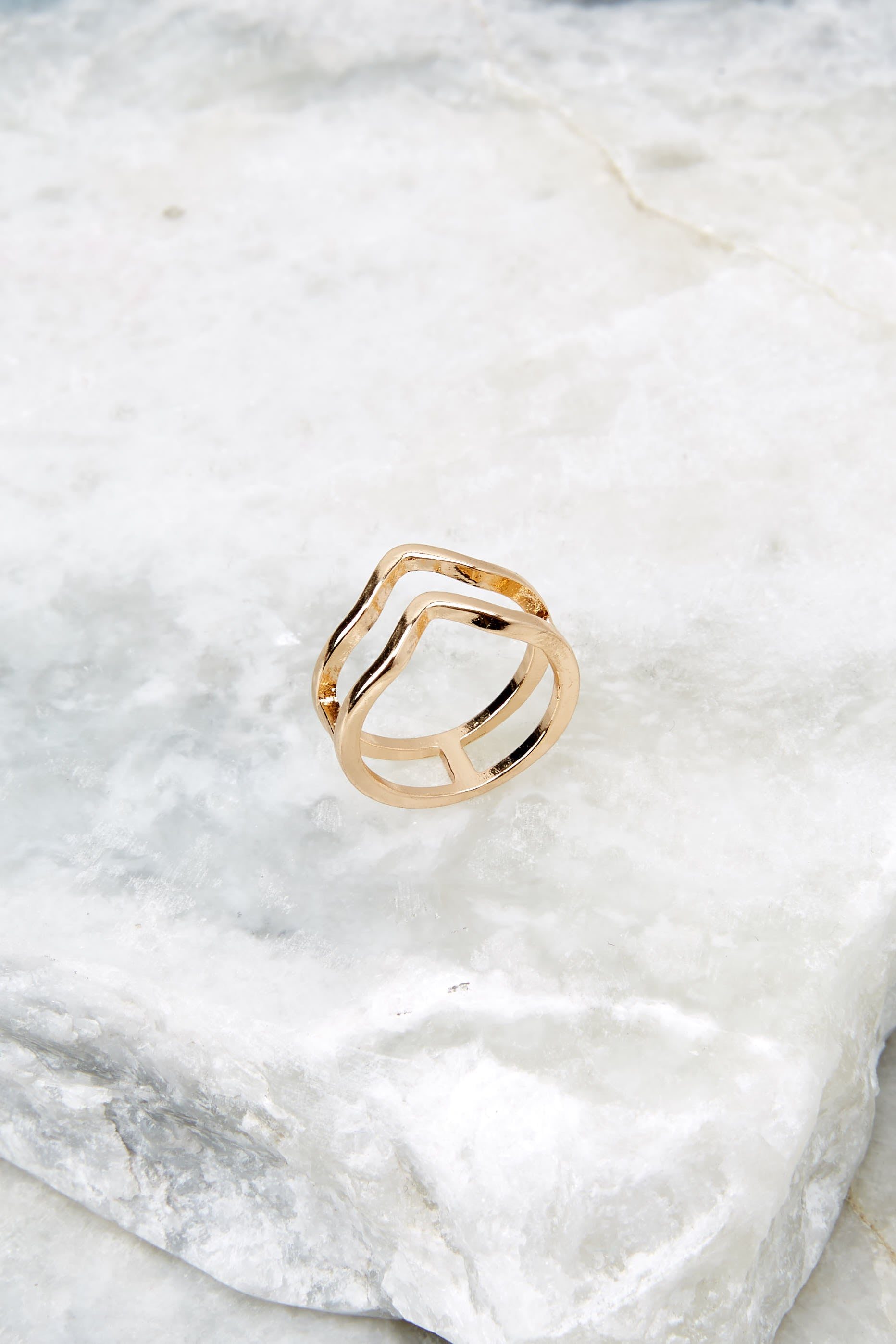 2 Oh Wonder Gold Ring at reddressboutique.com