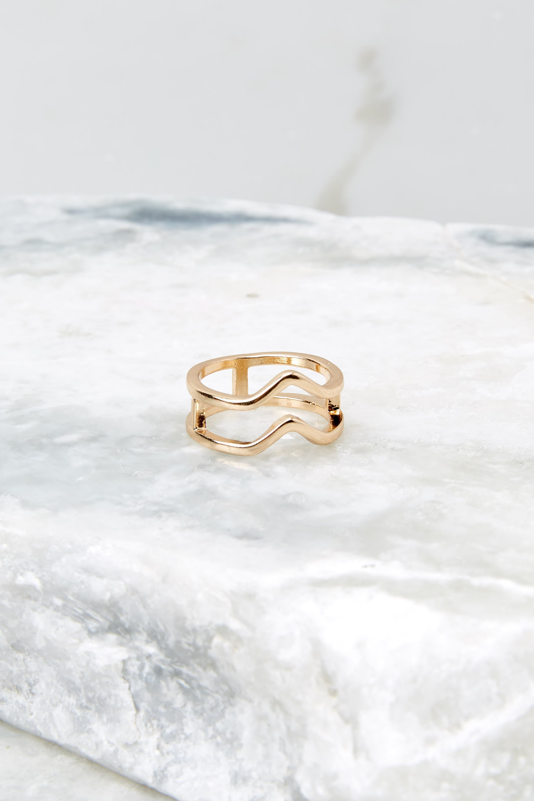 3 Oh Wonder Gold Ring at reddressboutique.com